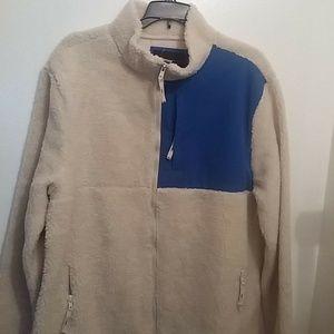 AEROPOSTALE Men's LARGE FAUX FUR Jacket-Coat